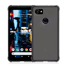 Silikon Hülle Handyhülle Ultra Dünn Schutzhülle Durchsichtig Transparent für Google Pixel 2 XL Grau