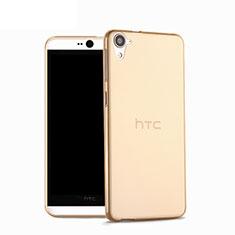 Silikon Hülle Handyhülle Ultra Dünn Schutzhülle Durchsichtig Transparent für HTC Desire 826 826T 826W Gold