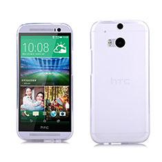 Silikon Hülle Handyhülle Ultra Dünn Schutzhülle Durchsichtig Transparent für HTC One M8 Weiß