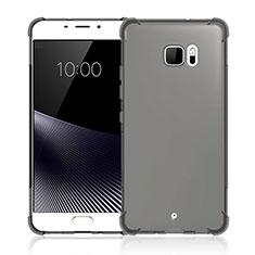 Silikon Hülle Handyhülle Ultra Dünn Schutzhülle Durchsichtig Transparent für HTC U Ultra Grau