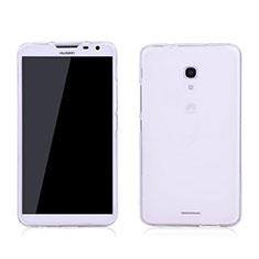 Silikon Hülle Handyhülle Ultra Dünn Schutzhülle Durchsichtig Transparent für Huawei Ascend Mate 2 Weiß