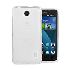 Silikon Hülle Handyhülle Ultra Dünn Schutzhülle Durchsichtig Transparent für Huawei Ascend Y635 Dual SIM Weiß