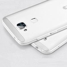 Silikon Hülle Handyhülle Ultra Dünn Schutzhülle Durchsichtig Transparent für Huawei G7 Plus Weiß