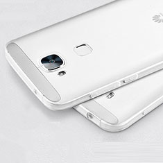Silikon Hülle Handyhülle Ultra Dünn Schutzhülle Durchsichtig Transparent für Huawei G8 Weiß