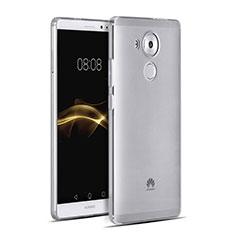 Silikon Hülle Handyhülle Ultra Dünn Schutzhülle Durchsichtig Transparent für Huawei Mate 8 Grau