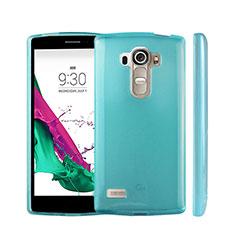Silikon Hülle Handyhülle Ultra Dünn Schutzhülle Durchsichtig Transparent für LG G4 Beat Hellblau