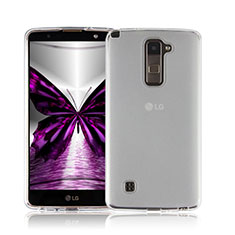 Silikon Hülle Handyhülle Ultra Dünn Schutzhülle Durchsichtig Transparent für LG Stylus 2 Plus Weiß