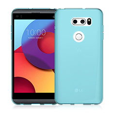 Silikon Hülle Handyhülle Ultra Dünn Schutzhülle Durchsichtig Transparent für LG V30 Blau