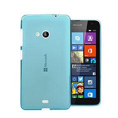 Silikon Hülle Handyhülle Ultra Dünn Schutzhülle Durchsichtig Transparent für Microsoft Lumia 535 Blau
