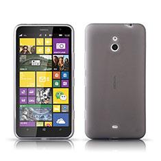 Silikon Hülle Handyhülle Ultra Dünn Schutzhülle Durchsichtig Transparent für Nokia Lumia 1320 Grau