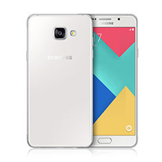 Silikon Hülle Handyhülle Ultra Dünn Schutzhülle Durchsichtig Transparent für Samsung Galaxy A3 (2016) SM-A310F Weiß