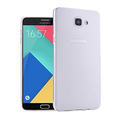 Silikon Hülle Handyhülle Ultra Dünn Schutzhülle Durchsichtig Transparent für Samsung Galaxy A9 Pro (2016) SM-A9100 Weiß