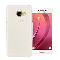 Silikon Hülle Handyhülle Ultra Dünn Schutzhülle Durchsichtig Transparent für Samsung Galaxy C5 SM-C5000 Weiß