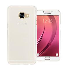 Silikon Hülle Handyhülle Ultra Dünn Schutzhülle Durchsichtig Transparent für Samsung Galaxy C7 SM-C7000 Weiß