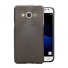 Silikon Hülle Handyhülle Ultra Dünn Schutzhülle Durchsichtig Transparent für Samsung Galaxy J3 Pro (2016) J3110 Grau