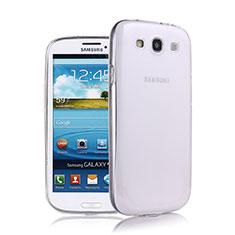 Silikon Hülle Handyhülle Ultra Dünn Schutzhülle Durchsichtig Transparent für Samsung Galaxy S3 III LTE 4G Weiß