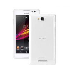 Silikon Hülle Handyhülle Ultra Dünn Schutzhülle Durchsichtig Transparent für Sony Xperia C S39h Klar