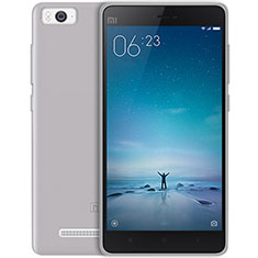 Silikon Hülle Handyhülle Ultra Dünn Schutzhülle Durchsichtig Transparent für Xiaomi Mi 4i Grau