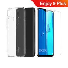 Silikon Hülle Handyhülle Ultra Dünn Schutzhülle Durchsichtig Transparent mit Schutzfolie für Huawei Enjoy 9 Plus Klar