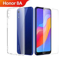 Silikon Hülle Handyhülle Ultra Dünn Schutzhülle Durchsichtig Transparent mit Schutzfolie für Huawei Honor 8A Klar