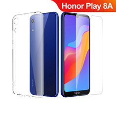 Silikon Hülle Handyhülle Ultra Dünn Schutzhülle Durchsichtig Transparent mit Schutzfolie für Huawei Honor Play 8A Klar