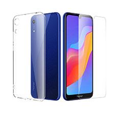 Silikon Hülle Handyhülle Ultra Dünn Schutzhülle Durchsichtig Transparent mit Schutzfolie für Huawei Y6 (2019) Klar