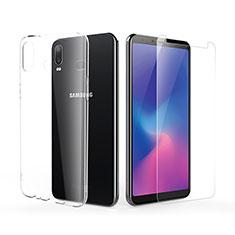 Silikon Hülle Handyhülle Ultra Dünn Schutzhülle Durchsichtig Transparent mit Schutzfolie für Samsung Galaxy A6s Klar