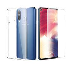 Silikon Hülle Handyhülle Ultra Dünn Schutzhülle Durchsichtig Transparent mit Schutzfolie für Samsung Galaxy A8s SM-G8870 Klar