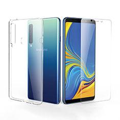 Silikon Hülle Handyhülle Ultra Dünn Schutzhülle Durchsichtig Transparent mit Schutzfolie für Samsung Galaxy A9s Klar
