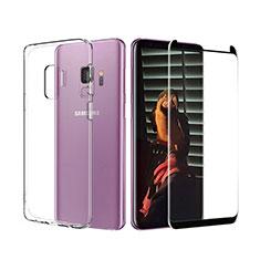 Silikon Hülle Handyhülle Ultra Dünn Schutzhülle Durchsichtig Transparent mit Schutzfolie für Samsung Galaxy S9 Klar