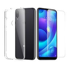 Silikon Hülle Handyhülle Ultra Dünn Schutzhülle Durchsichtig Transparent mit Schutzfolie für Xiaomi Mi Play 4G Klar