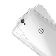 Silikon Hülle Handyhülle Ultra Dünn Schutzhülle Durchsichtig Transparent R01 für OnePlus X Klar