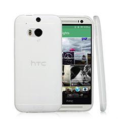 Silikon Hülle Handyhülle Ultra Dünn Schutzhülle Durchsichtig Transparent T01 für HTC One M8 Weiß