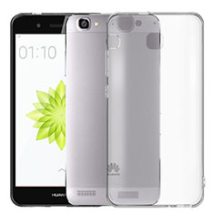 Silikon Hülle Handyhülle Ultra Dünn Schutzhülle Durchsichtig Transparent T02 für Huawei Enjoy 5S Grau