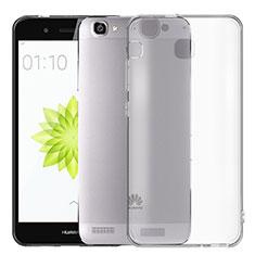 Silikon Hülle Handyhülle Ultra Dünn Schutzhülle Durchsichtig Transparent T02 für Huawei G8 Mini Grau