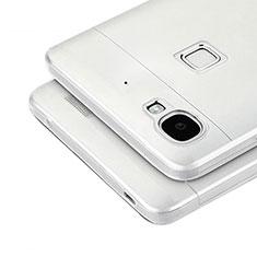 Silikon Hülle Handyhülle Ultra Dünn Schutzhülle Durchsichtig Transparent T04 für Huawei G8 Mini Grau