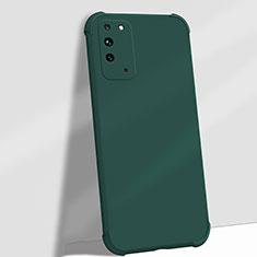 Silikon Hülle Handyhülle Ultra Dünn Schutzhülle Flexible 360 Grad Ganzkörper Tasche C01 für Huawei Honor X10 5G Grün