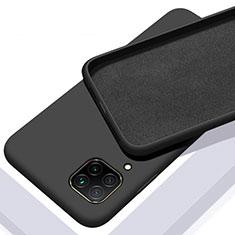 Silikon Hülle Handyhülle Ultra Dünn Schutzhülle Flexible 360 Grad Ganzkörper Tasche C01 für Huawei P40 Lite Schwarz