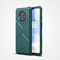 Silikon Hülle Handyhülle Ultra Dünn Schutzhülle Flexible 360 Grad Ganzkörper Tasche C01 für OnePlus 7T Grün