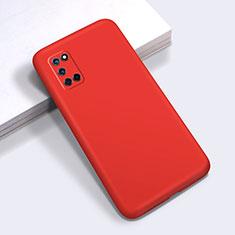 Silikon Hülle Handyhülle Ultra Dünn Schutzhülle Flexible 360 Grad Ganzkörper Tasche C01 für Oppo A72 Rot