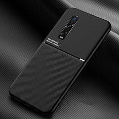 Silikon Hülle Handyhülle Ultra Dünn Schutzhülle Flexible 360 Grad Ganzkörper Tasche C01 für Oppo Find X2 Pro Schwarz