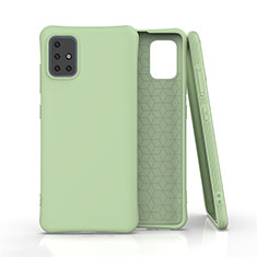 Silikon Hülle Handyhülle Ultra Dünn Schutzhülle Flexible 360 Grad Ganzkörper Tasche C01 für Samsung Galaxy A51 5G Grün