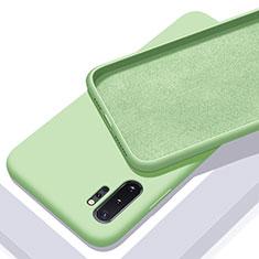 Silikon Hülle Handyhülle Ultra Dünn Schutzhülle Flexible 360 Grad Ganzkörper Tasche C01 für Samsung Galaxy Note 10 Plus 5G Grün