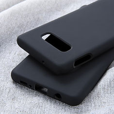 Silikon Hülle Handyhülle Ultra Dünn Schutzhülle Flexible 360 Grad Ganzkörper Tasche C01 für Samsung Galaxy S10e Schwarz