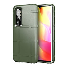 Silikon Hülle Handyhülle Ultra Dünn Schutzhülle Flexible 360 Grad Ganzkörper Tasche C01 für Xiaomi Mi Note 10 Lite Grün