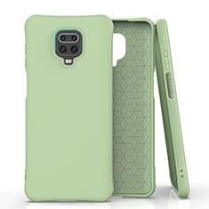 Silikon Hülle Handyhülle Ultra Dünn Schutzhülle Flexible 360 Grad Ganzkörper Tasche C01 für Xiaomi Redmi Note 9 Pro Grün