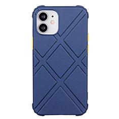 Silikon Hülle Handyhülle Ultra Dünn Schutzhülle Flexible 360 Grad Ganzkörper Tasche C02 für Apple iPhone 12 Blau