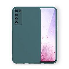 Silikon Hülle Handyhülle Ultra Dünn Schutzhülle Flexible 360 Grad Ganzkörper Tasche C02 für Huawei Honor Play4 5G Nachtgrün