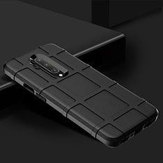 Silikon Hülle Handyhülle Ultra Dünn Schutzhülle Flexible 360 Grad Ganzkörper Tasche C02 für OnePlus 7T Pro Schwarz