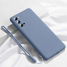 Silikon Hülle Handyhülle Ultra Dünn Schutzhülle Flexible 360 Grad Ganzkörper Tasche C02 für Oppo Reno4 Pro 5G Grau